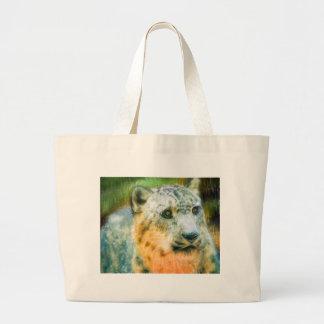 SnowLeopard Large Tote Bag