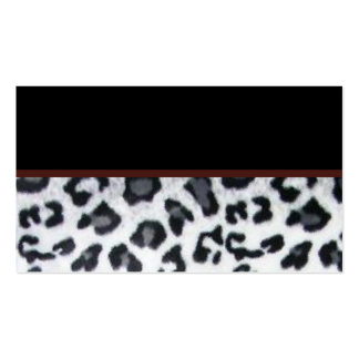snowleopard with black trim Double-Sided standard business cards (Pack of 100)