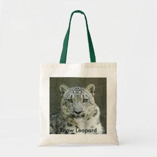 SnowLeopardM002, Snow Leopard Tote Bag