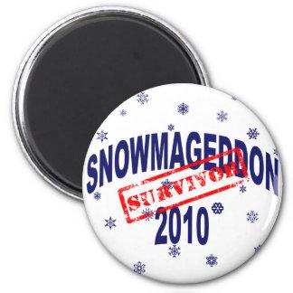 snowmageddon 2010 2 inch round magnet