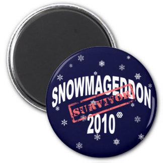 snowmageddon 2010 fridge magnet