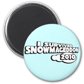 Snowmageddon 2 Inch Round Magnet