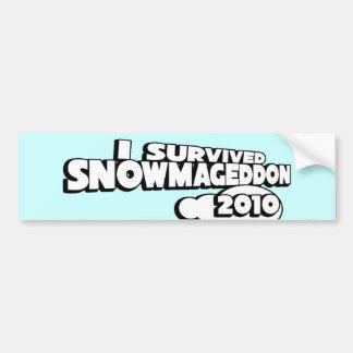 Snowmageddon Car Bumper Sticker