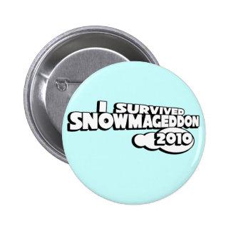 Snowmageddon Pinback Button