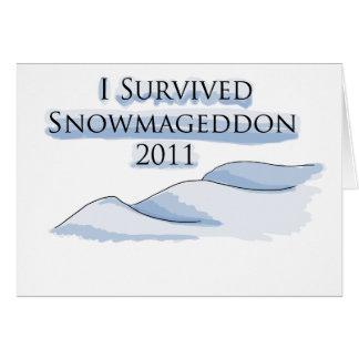 snowmageddon tarjeta de felicitación