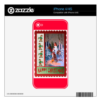 Snowmaiden in the forest iPhone 4 skin