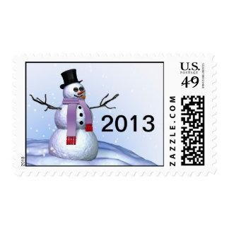 Snowman 2013 Christmas Stamp