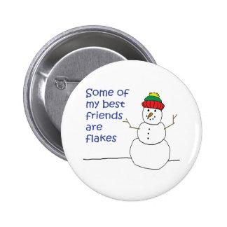 Snowman 2 Inch Round Button