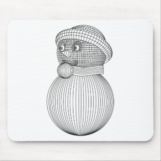 snowman-2 mouse pad