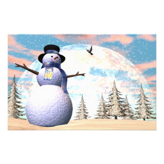 Snowman - 3D render Stationery