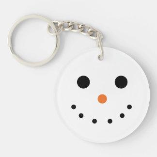 Snowman Acrylic Keychain