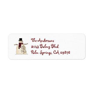 Snowman Address Label
