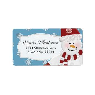 Snowman Address Stickers