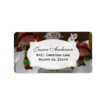 Snowman Address Stickers Address Label