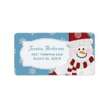 Snowman Address Stickers Custom Address Label