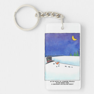 Snowman Adrift Keychain
