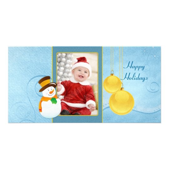 Snowman and baubles - Christmas design Card