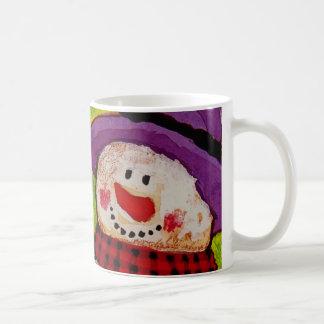 Snowman and Broom Coffee Mug