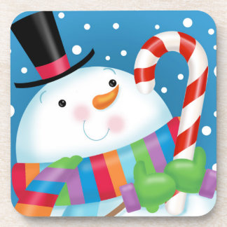 Snowman and Candy Cane Coaster