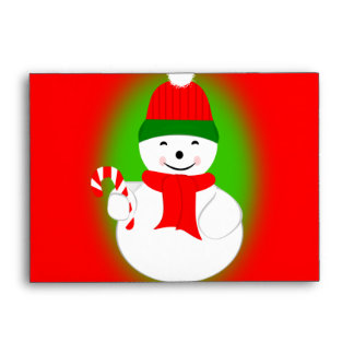Snowman and Candy Cane Envelope