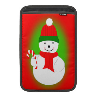 Snowman and Candy Cane MacBook Sleeve