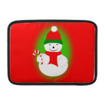Snowman and Candy Cane MacBook Sleeves