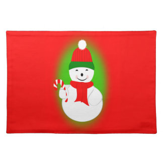 Snowman and Candy Cane Placemat