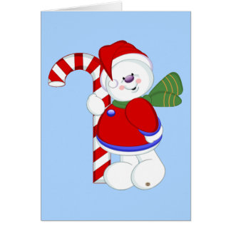 Snowman and Candycane Card