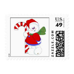 Snowman and Candycane Postage