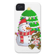 Snowman And Christmas Bear Case-Mate iPhone 4 Case