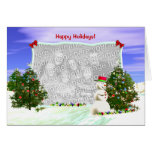 Snowman and Christmas Trees (photo frame) Cards