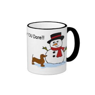 Snowman and Dachhund Mug
