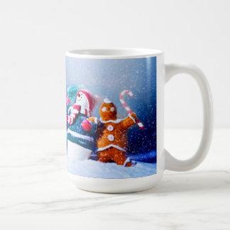 Snowman And Gingerbread Man Coffee Mug