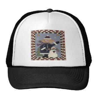 Snowman and Girl Trucker Hat