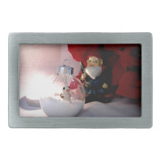 Snowman and Gnome Rectangular Belt Buckle