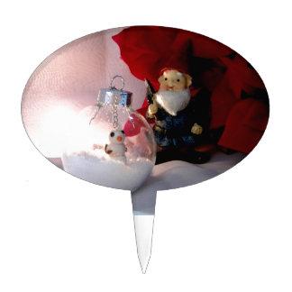 Snowman and Gnome Cake Topper
