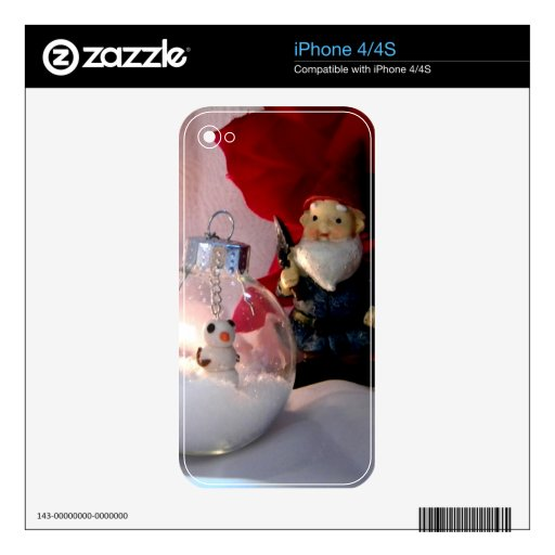 Snowman and Gnome Decals For The iPhone 4