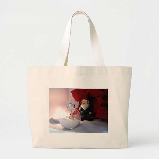 Snowman and Gnome Large Tote Bag