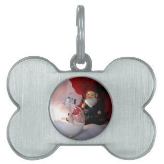 Snowman and Gnome Pet ID Tag