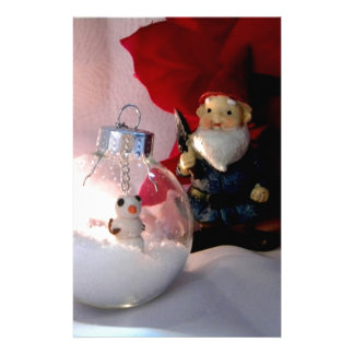 Snowman and Gnome Stationery
