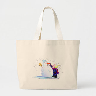 snowman and his girl bags