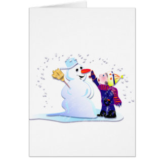 snowman and his girl card