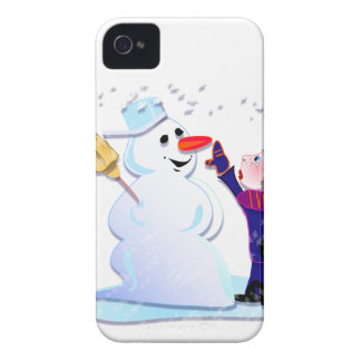 snowman and his girl iPhone 4 Case-Mate cases