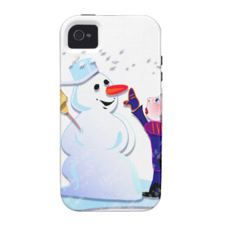 snowman and his girl vibe iPhone 4 cases