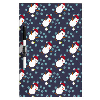 Snowman and Penguin Dry-Erase Board