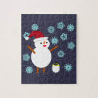 Snowman and Penguin Jigsaw Puzzle