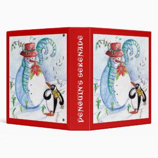SNOWMAN AND PENGUIN'S WINTER SERENADE BINDER