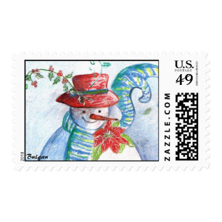 SNOWMAN AND PENGUIN'S WINTER SERENADE POSTAGE