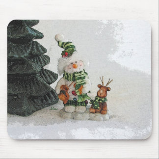 Snowman and Raindeer Mouse Pad