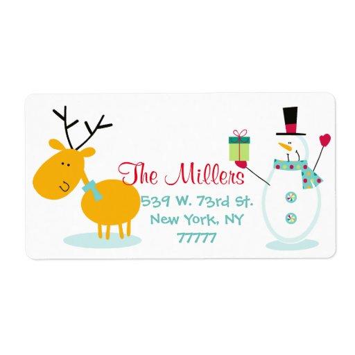 ... Funny Reindeer Christmas Return Address Custom Return Address Labels